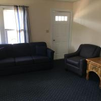 living room with queen size pullout sleep sofa