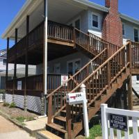 2 story exteiror wood decks with stairs
