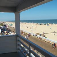 boardwalk and beach view from balcony