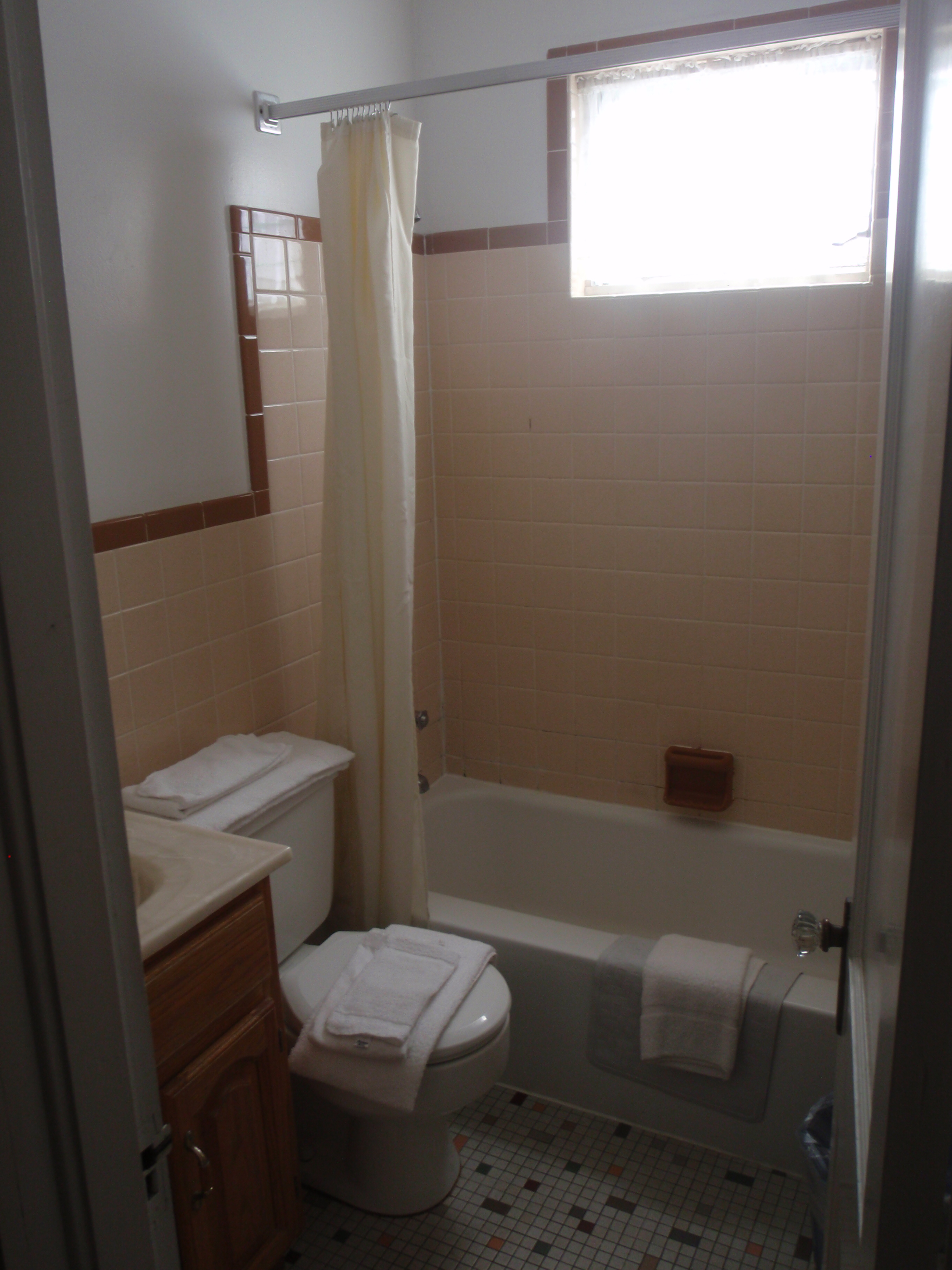 bathroom with tub/shower and sink/toilet