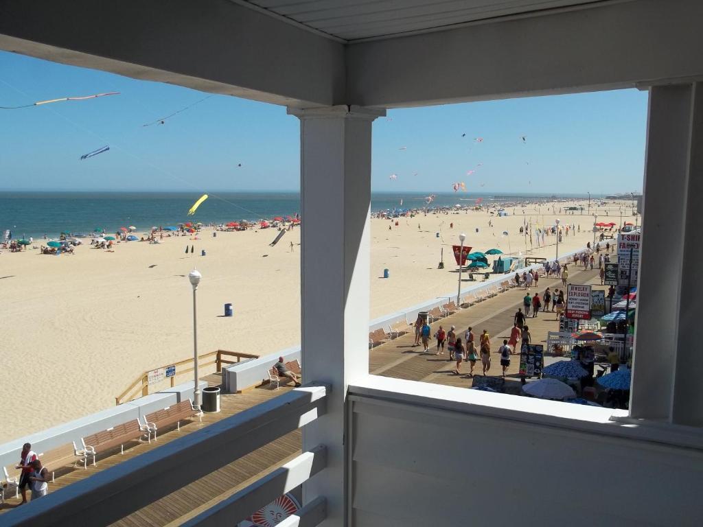 beach and boardwalk view
